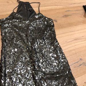 Mini sequence dress